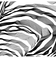 Zebra stripes pattern outline background vector