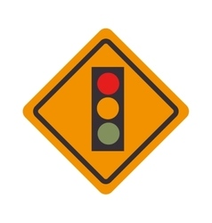 Sign traffic light road isolated vector