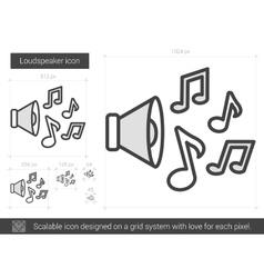 Loudspeaker line icon vector