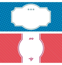 Two invitation labels vector