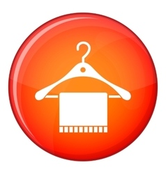 Scarf on coat hanger icon flat style vector