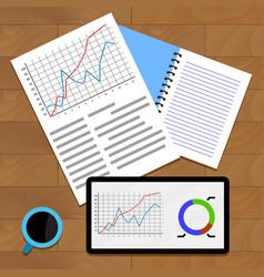 Exchange data chart vector