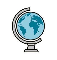 School world globe vector