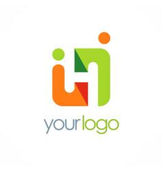 Square partner people logo vector