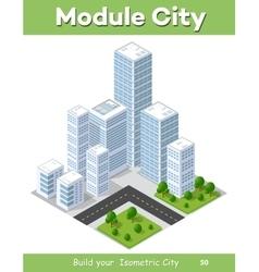 3D isometric city vector image