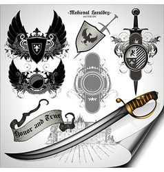 Set of ancient weapons vector