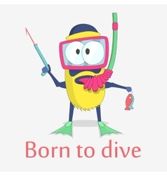 Monster diver character design vector