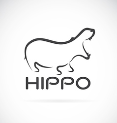 Image of an hippo design vector
