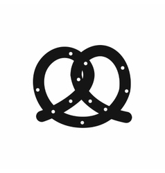 Pretzel icon simple style vector