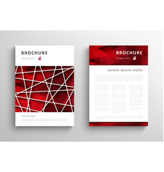 abstract triangular brochure design template vector image vector image