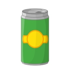 Aluminum cans for beer icon cartoon style vector