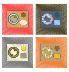 assembly flat shading style icon technology vector image vector image