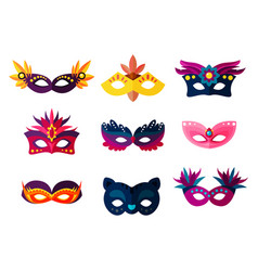 Authentic handmade venetian painted carnival face vector