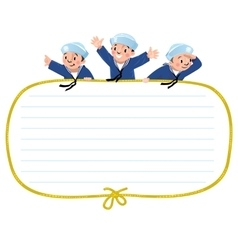 Banner or card with happy sailors vector image vector image