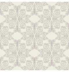 Beige baroque pattern vector