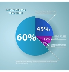 Business pie chart for documents and reports vector image