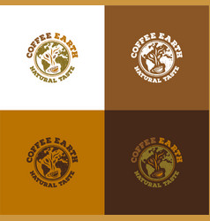 coffee earth vector image vector image