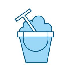 Color blue sand jar cartoon vector