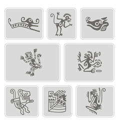 Cons with american indians relics dingbats vector