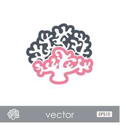 Coral outline icon summer vacation vector
