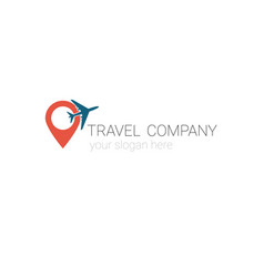 creative logo of travel agency tourism company vector image
