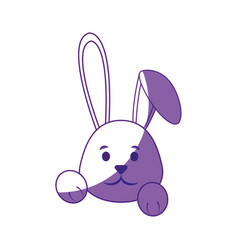 cute easter bunny cartoon vector image