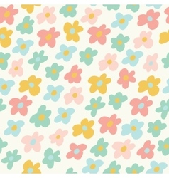 Cute little flowers seamless pattern vector image vector image