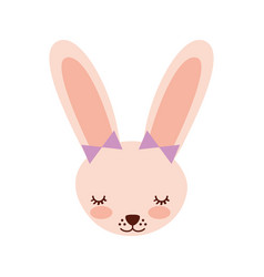 Cute rabbit tender character vector