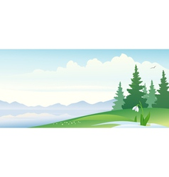 Early spring banner vector image