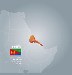 eritrea information map vector image vector image
