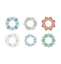 Ethnic ornamental cirular frames set vector