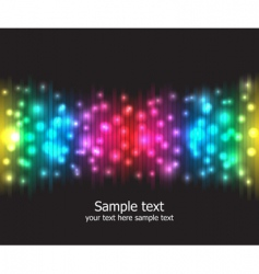 Light effects background vector image