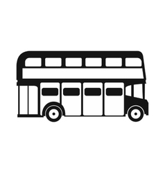 London double decker bus icon simple style vector