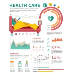Medical health healthcare icons and data elements vector