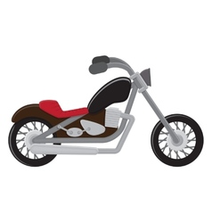 Motorcycle Isolated vector image