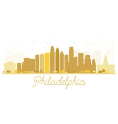 Philadelphia city skyline golden silhouette vector
