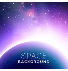 realistic cosmic background vector image vector image