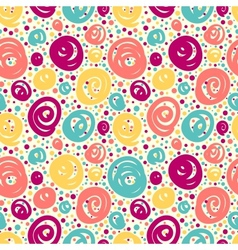 Seamless pattern with doodle dots vector image vector image