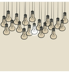 Sketch lightbulb background vector