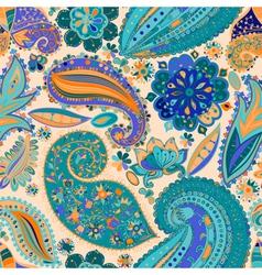 Vintage floral motif ethnic seamless background vector image