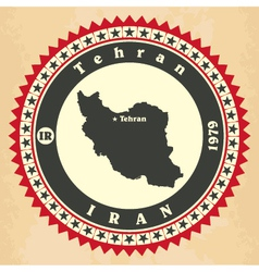 Vintage label-sticker cards of iran vector