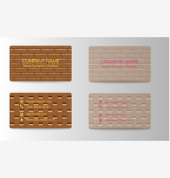 Visit card template vector
