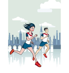 London Runners vector image