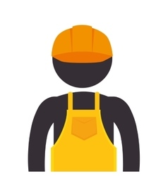 Worker wearing industrial security equipment vector