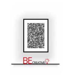 3d poster frame mock up vector image