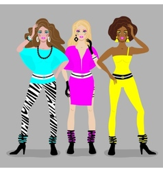Girls disco style vector