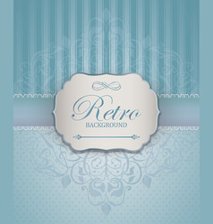 Vintage frame with damask lace pattern vector