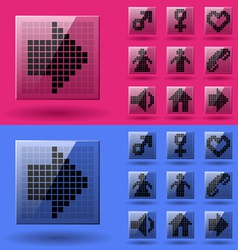 Lcd display pixel symbols vector