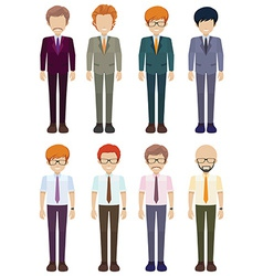 Eight faceless gentlemen vector
