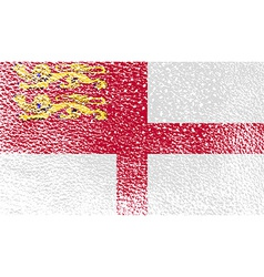 Flag of sark with old texture vector